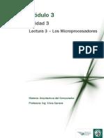 M3-Lectura 3 - Los Microprocesadores 2011
