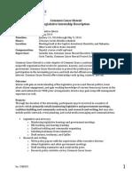 CCHI Legislative Internship Description - Spring 2014