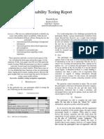 usability report final draft