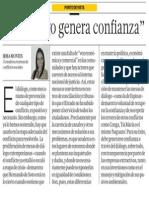 El diálogo genera confianza - Irma Montes Patiño