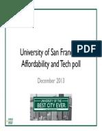 USF Affordability and Tech Poll Dec 2013