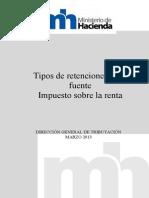 Tipos de Retenciones en La Fuente-Imp Sobre La Renta