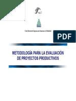 Metodologia Para La Evaluacion de Proyectos Productivos
