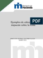 Ejemplos de cáculo del impuesto sobre la renta