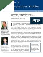 Institutional Failure in Surveillance Policymaking