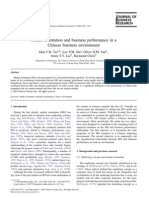 Market Orientation and Business Performance in a Chinese Business Environment. Tse. 2003