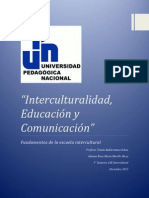 Trabajo Final Interculturalidad, Educacion y Comunicacion