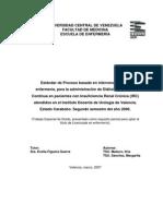 Estándar de Proceso basado en intervenciones de enfermería, para la administración de Diálisis Peritoneal Continua (IRC)