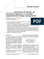 The Five Dimension of Change
