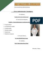 Jenny Garcia - Unidad 3 - Toma de Decisiones en Cond de Certidumbre