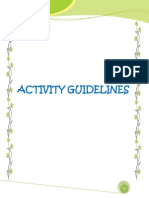 Activity Guidelines