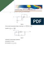 (1 Lista de Exercicios de Eletronica Analogica - 2013.2)