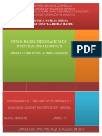 1 REPORTE DE INVESTIGACIÓN
