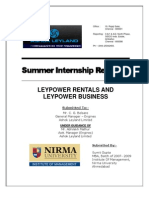 Final Report on Leypower Rentals
