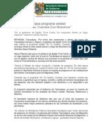 """10-12-2013 'Activa Tamaulipas programa estatal """"En Tu Camino, Cuentas Con Nosotros""""'"""