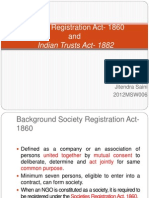 Society Registration Act-1860 and Public Trust Act 1882