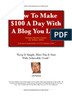 how to earn 100 a day with a blog you love