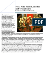 Mother Teresa, John Paul II and the Fast Track Saints
