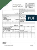 Worksheet for Calibration Ctm