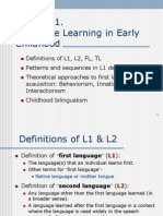 1 Learning a First Language New