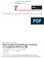 How Google is Using People Analytics to Completely Reinvent HR