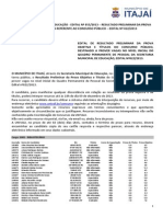 Edital n055-2013 - Resultado Da Prova Objetiva e Ttulos