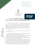 Acta Sesión Ordinaria 07-11-13