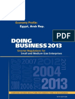 Doing Business 2013 Egypt