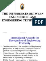 Engineering vs Engineering Tech From Prof ASH