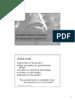 Foundation Design to Eurocode 7, A.Bond (Geocentrix)
