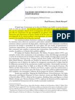 Pierson, P y Skocpol, T - EL INSTITUCIONALISMO HISTÓRICO EN LA CIENCIA POLITICA CONTEMPORANEA