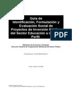 Guia Para Proyecto de Inversion en Educacion -Mef
