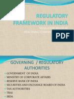 Regulatory Framework in India