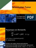 Model Pertumbuhan Tumor Dan Penyerapan Oksigen Di Alveolus