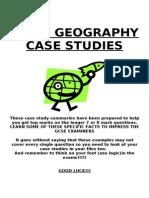 iGCSE Geography Case Studies