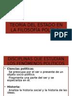 TEORÍA DEL ESTADO EN LA FILOSOFÍA POLÍTICA MODERNA
