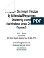 Shuichi Shinmura - Problem of Discriminant Functions by Mathematical Programming
