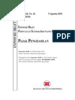 ED PSAK 46 Revisi 2010 Pajak Penghasilan