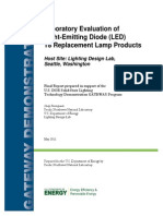 Laboratory Evaluation of LEDT8 Replacement