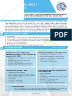 ISO 39001 Lead Auditor - Two Page Brochure