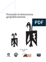 pensar democracia geopoliticamente Tapia