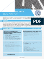 ISO 39001 Lead Auditor - Four Page Brochure