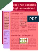 antioxidant in fruit
