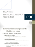 Behavioural Research in Accounting
