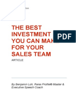 The Best Investment You Can Make for Your Sales Team