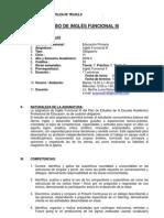 SÍLABO DE INGLÉS FUNCIONAL III- PRIMARIA