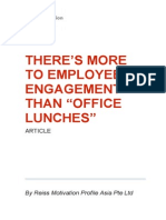 There's More to Employee Engagement Than Office Lunches