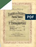 Tchaikovski Romeo Et Juliette Piano 4 Hands