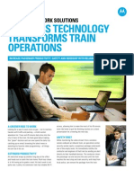 Wireless Technology Transforms Train Operations