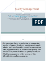 Total Quality Management in Procurement